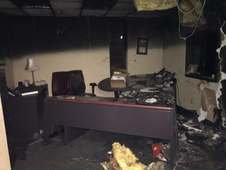 Moody Radio Chattanooga Fire Damaged Office